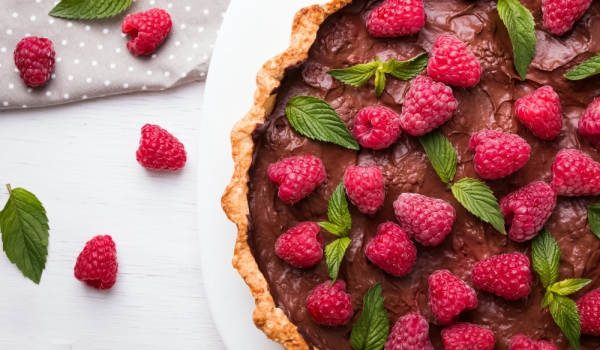 Италиански сладкиш с шоколад и малини
