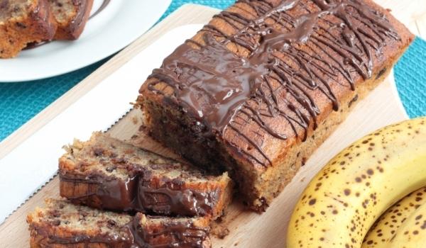 Шоколадов кейк с банан и кафе