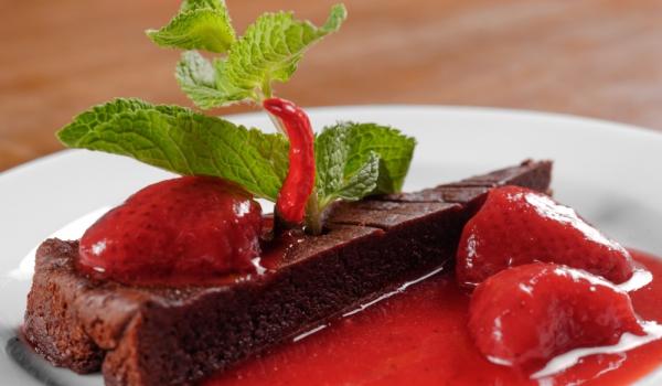 Пикантен шоколадов кекс