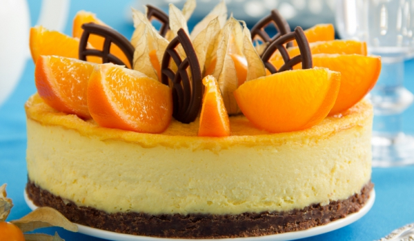 Портокалов чийзкейк със стафиди