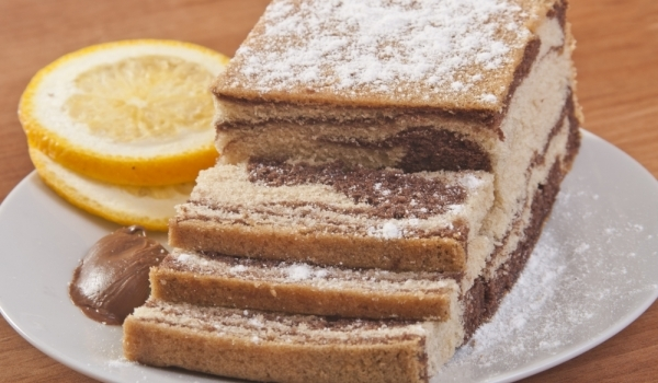 Мраморен кекс с тонка боб