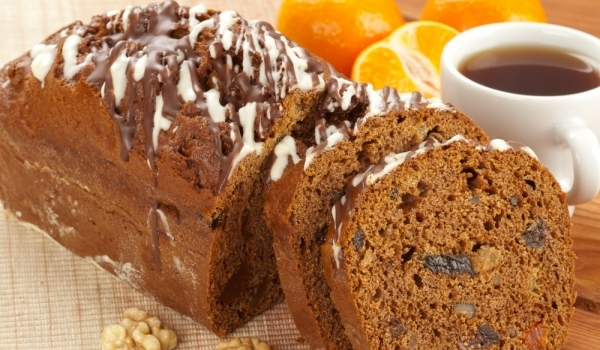 Портокалов кекс с орехи и какао