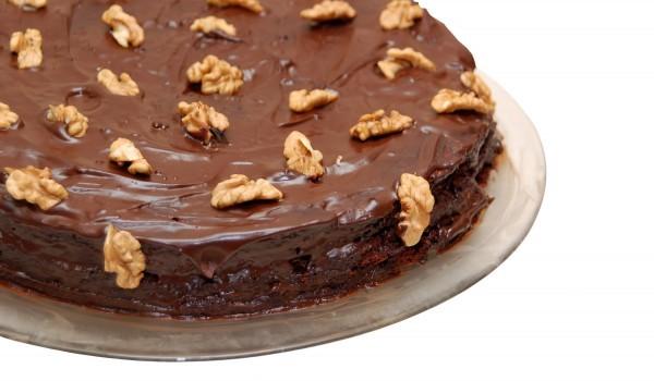 Лесен сладкиш с течен шоколад