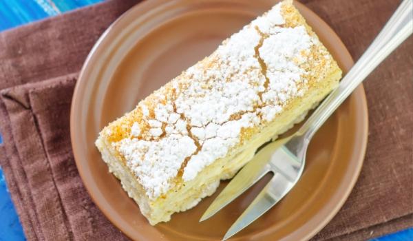 Торта Наполеон с кисело мляко