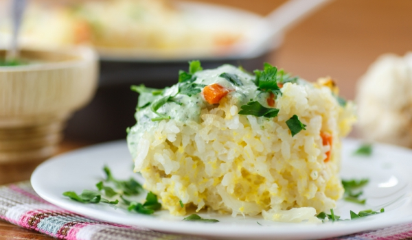 Суфле с ориз и царевица