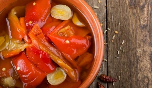 Печени чушки с моркови